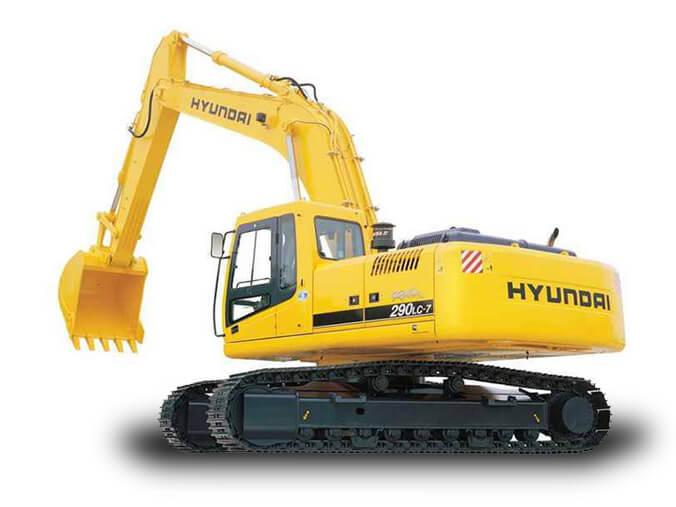Экскаватор гусеничный Hyundai R290, ковш 1.5 м³